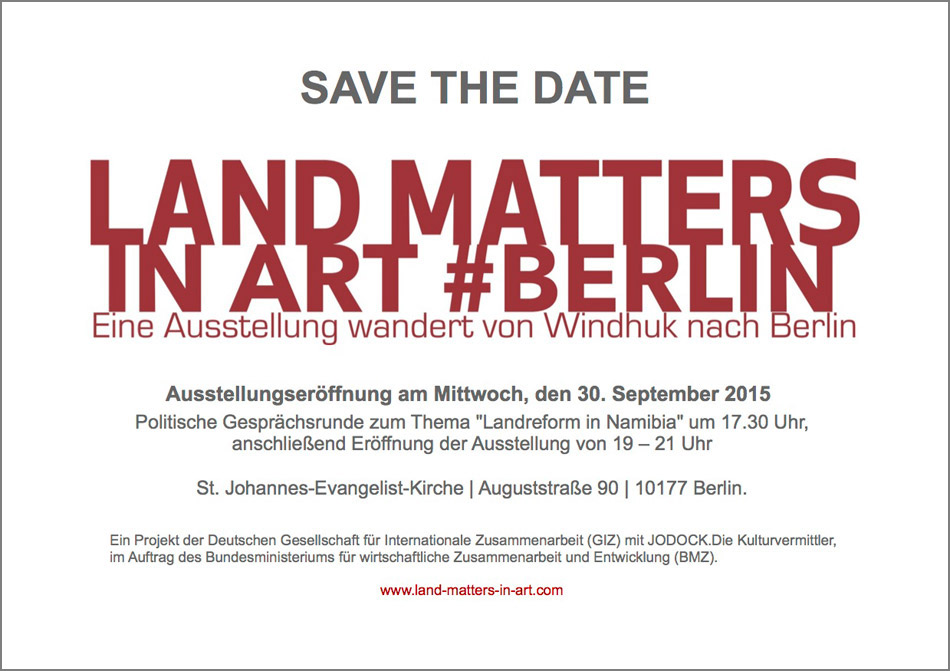 Save The Date Land Art Matters in Art #Berlin